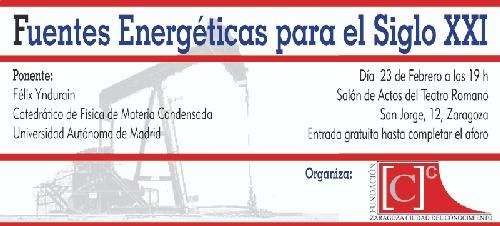 Conferencia: Las fuentes de energía del siglo XXI