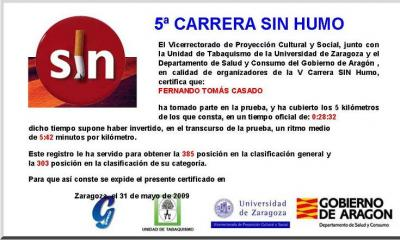 Carrera sin humo de Zaragoza