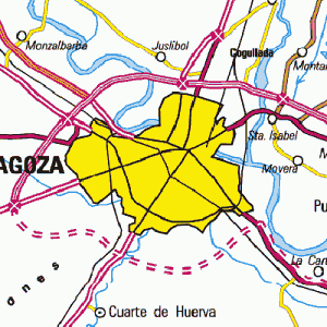 Zaragoza en el mapa