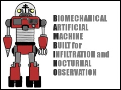 B.A.M.B.I.N.O.: Biomechanical Artificial Machine Built for Infiltration and Nocturnal Observation