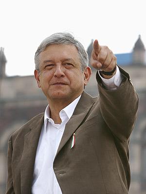Andrés Manuel López Obrador, en la plaza del Zócalo, en México D.F. (Foto: AP)