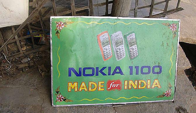 Anuncio de Nokia en la India. (Foto: M. A. G. M.)