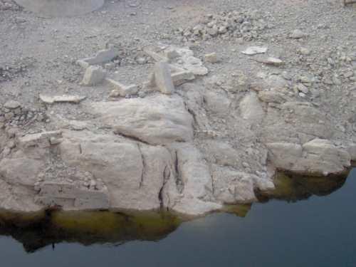 Sequía en la zona pintada de verde